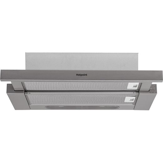 Hotpoint HSFX.1/1 60 cm Telescopic Cooker Hood - Stainless Steel - D Rated