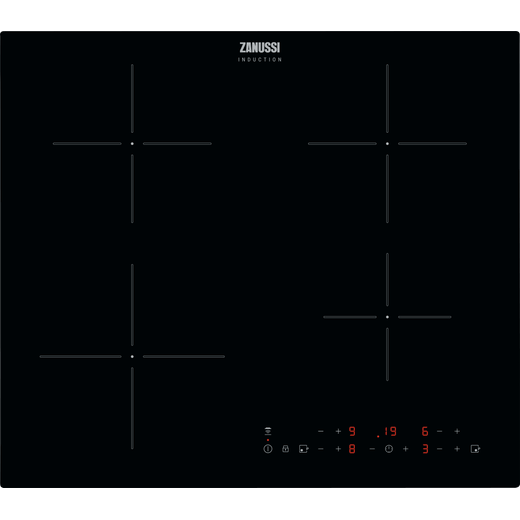 Zanussi ZITN643K 59cm Induction Hob - Black