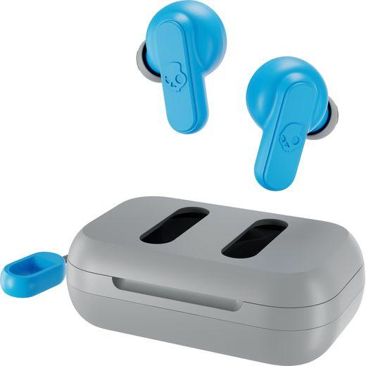 Skullcandy Dime In-Ear Water Resistant Bluetooth Headphones - Grey / Blue