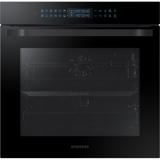 Samsung Prezio Dual Cook NV75R7576RB Built In Electric Single Oven - Black Glass - A Rated