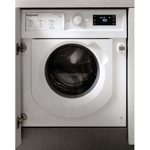 Hotpoint BIWMHG71483UKN Integrated 7Kg Washing Machine with 1400 rpm - White - D Rated
