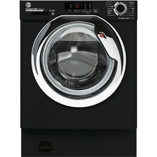 Hoover H-WASH&DRY 300 LITE HBDS495D1ACBE Integrated 9Kg / 9Kg Washer Dryer with 1400 rpm - Black - E Rated