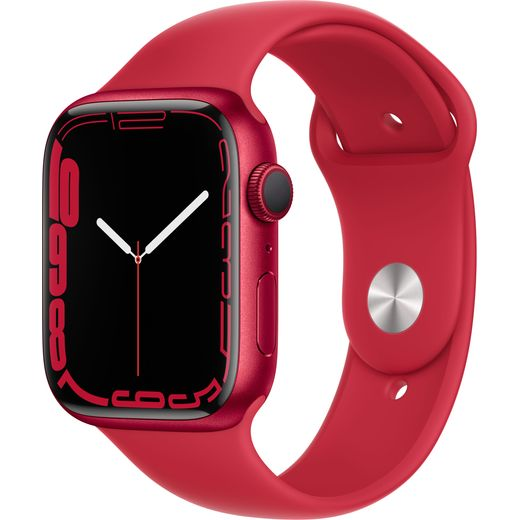 Apple Watch Series 7, 45mm, GPS [2021] - (PRODUCT) RED Aluminium Case with (PRODUCT)RED Sport Band