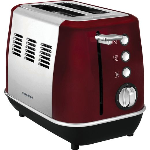 Morphy Richards Evoke 224408 2 Slice Toaster - Red