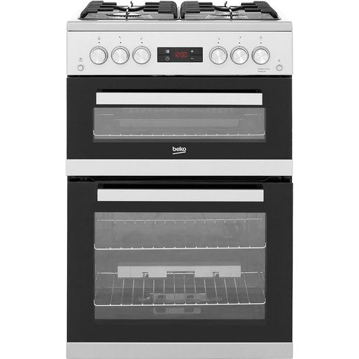 Beko KDG653S 60cm Gas Cooker with Full Width Gas Grill - Silver - A+/A Rated