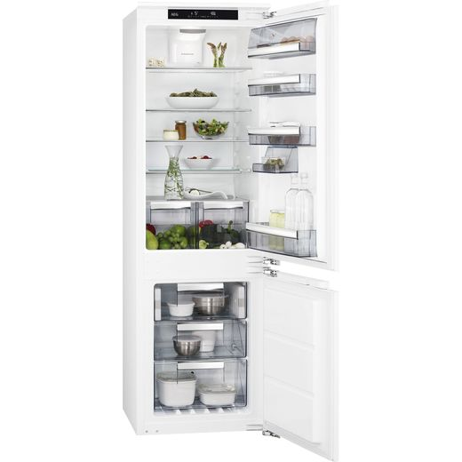 AEG SCE818E6TC Integrated 70/30 Fridge Freezer with Fixed Door Fixing Kit - White - E Rated