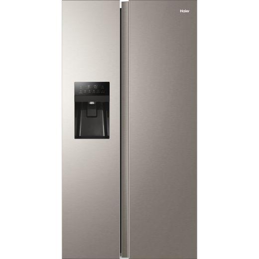 Haier HSR3918FIMP American Fridge Freezer - Platinum - F Rated