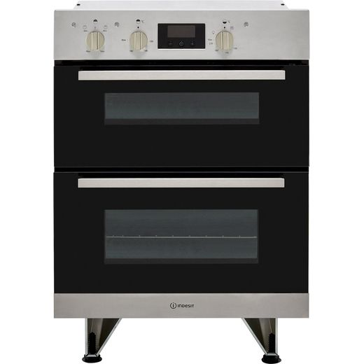 Indesit Aria IDU6340IX Built Under Electric Double Oven - Stainless Steel