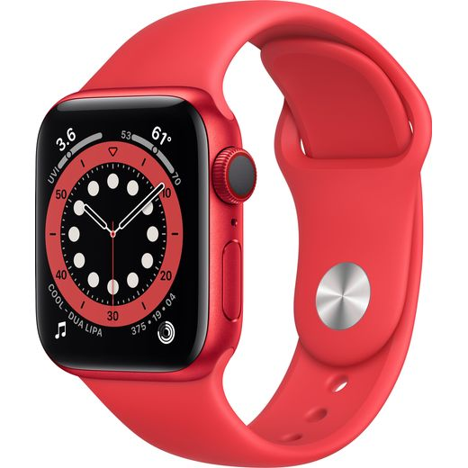 Apple Watch Series 6, 40 mmmm, GPS + Cellular [2020] - (PRODUCT) RED Aluminium Case with PRODUCT(RED) Sport Band