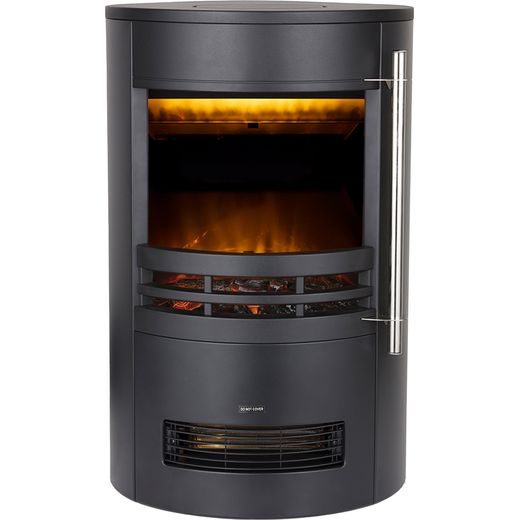 Warmlite Elmswell WL46022 Log Effect Electric Stove With Remote Control - Black