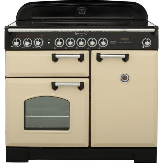 Rangemaster Classic Deluxe CDL100EICR/C 100cm Electric Range Cooker with Induction Hob - Cream - A/A Rated