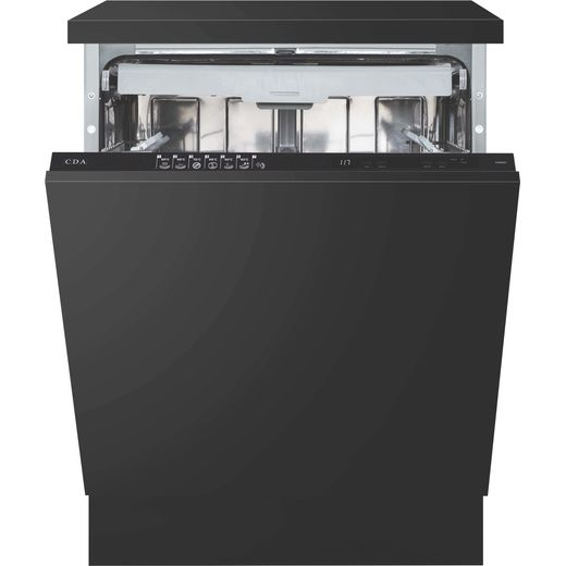 CDA CDI6241 Fully Integrated Standard Dishwasher - Black Control Panel - E Rated