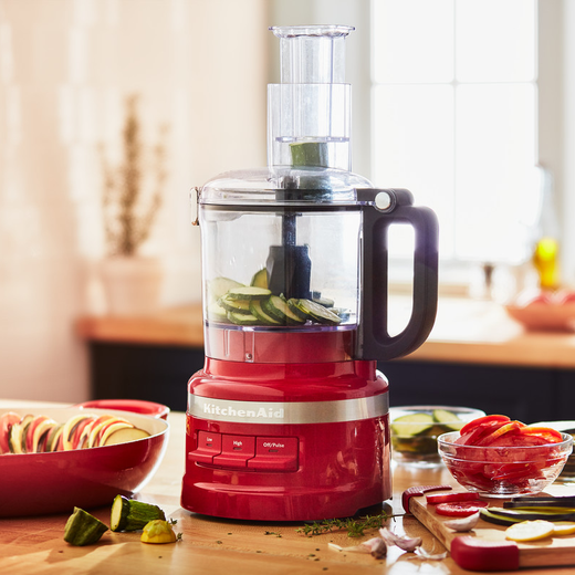 KitchenAid 5KFP0719BER 1.7 Litre Food Processor With 4 Accessories - Empire Red