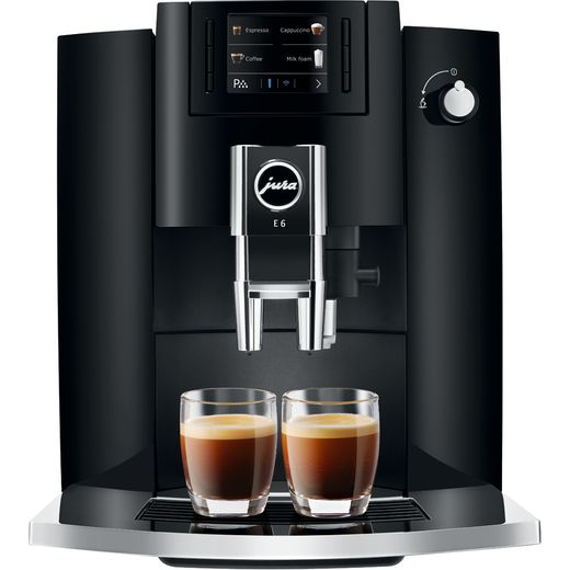 Jura E6 15350 Bean to Cup Coffee Machine - Piano Black