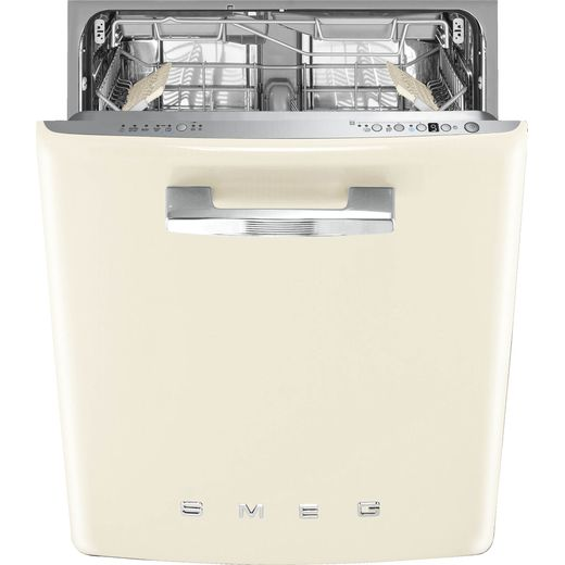 Smeg DIFABCR Fully Integrated Standard Dishwasher - Cream Control Panel - B Rated