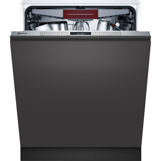 NEFF N50 S155HCX27G Wifi Connected Fully Integrated Standard Dishwasher - Stainless Steel Control Panel - D Rated