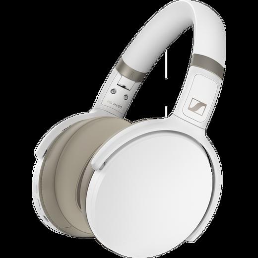 Sennheiser HD 450BT Over-Ear Wireless Bluetooth Headphones - White
