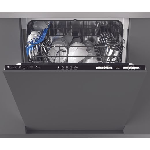 Candy Brava CDIN1L380PB Wifi Connected Fully Integrated Standard Dishwasher - Black Control Panel with Fixed Door Fixing Kit - F Rated