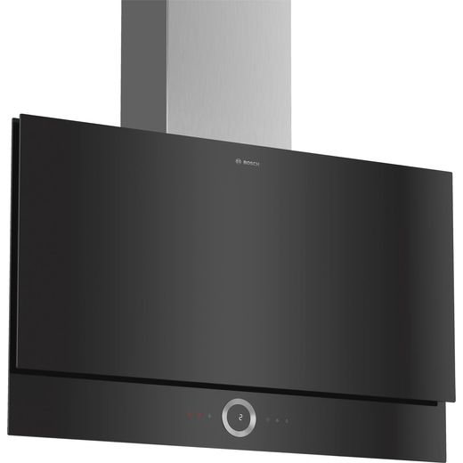 Bosch Serie 8 DWF97RV60B Wifi Connected 89 cm Angled Chimney Cooker Hood - Black - B Rated