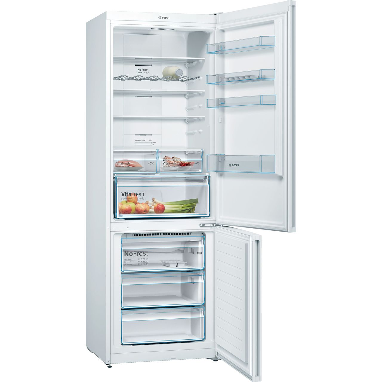 Kgn49xwea Bosch Fridge Freezer White Ao Com