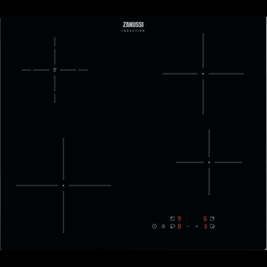 Zanussi ZITN646K 59cm Induction Hob - Black