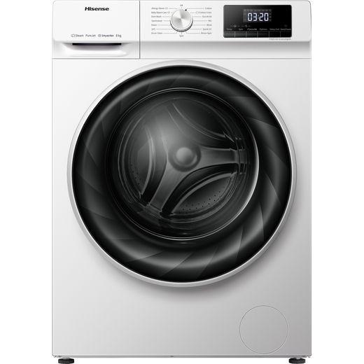 Hisense WFQY801418VJM 8Kg Washing Machine with 1400 rpm - White - B Rated