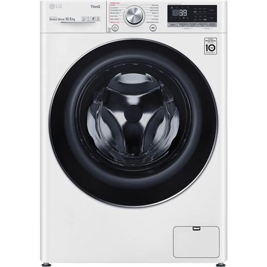 LG V9 F4V910WTSE Wifi Connected 10.5Kg Washing Machine with 1400 rpm - White - A Rated