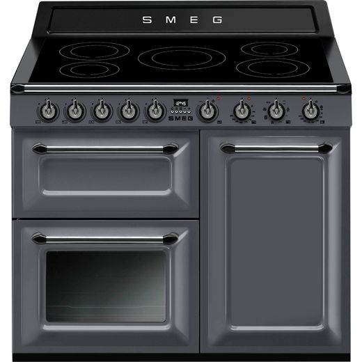 Smeg Victoria TR103IGR 100cm Electric Range Cooker with Induction Hob - Slate - A/B Rated