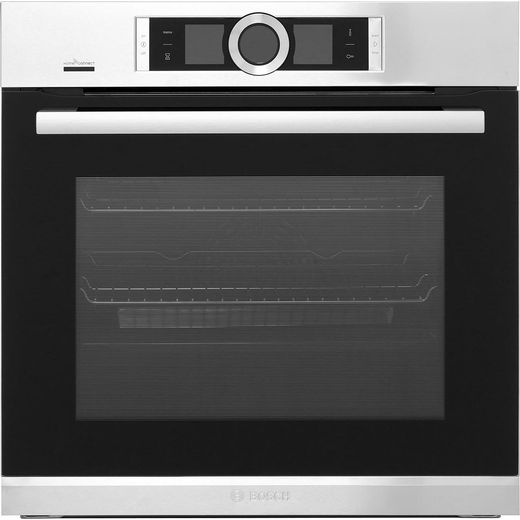 Bosch Serie 8 HBG6764S6B Wifi Connected Built In Electric Single Oven - Brushed Steel - A+ Rated