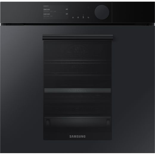 Samsung Infinite NV75T9979CD Wifi Connected Built In Electric Single Oven with added Steam Function - Satin Grey - A+ Rated