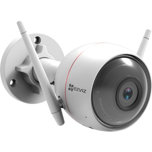EZVIZ WiFi Smart Home Security Camera With Strobe Light Full HD 1080p - White