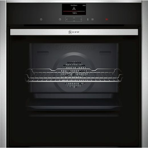 NEFF N90 Slide&Hide® B57CS24H0B Wifi Connected Built In Electric Single Oven - Stainless Steel - A Rated