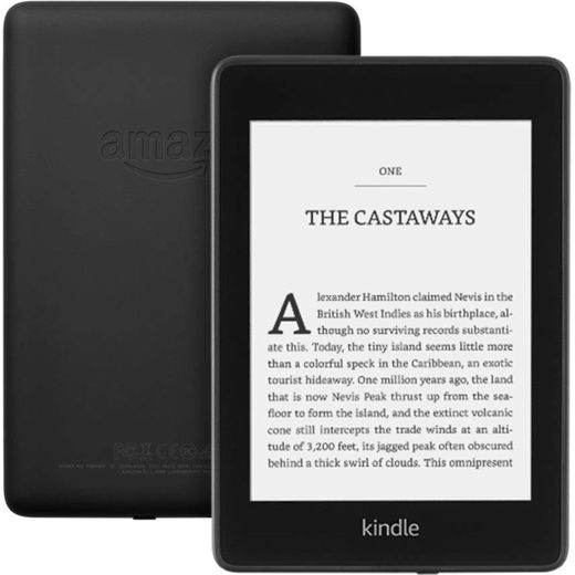 """Amazon Kindle Paperwhite with Special Offers 6"""" 8GB eReader - Black"""