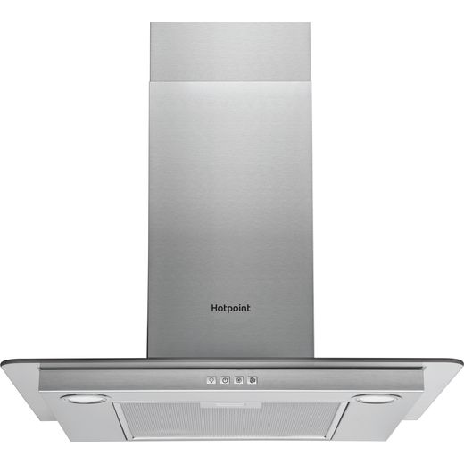 Hotpoint PHFG6.4FLMX 60 cm Chimney Cooker Hood - Stainless Steel - D Rated
