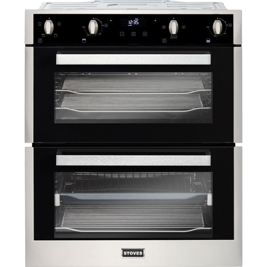 Stoves ST BI702MFCT Built Under Electric Double Oven - Stainless Steel