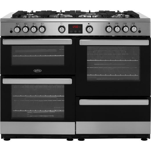 Belling Cookcentre110G 110cm Gas Range Cooker - Stainless Steel - A/A Rated