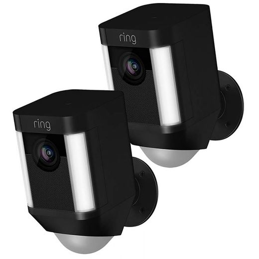 Ring Spotlight Cam Wired (Twin Pack) Full HD 1080p - Black