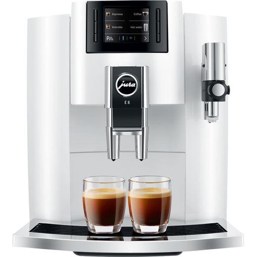 Jura E8 15306 Bean to Cup Coffee Machine - White