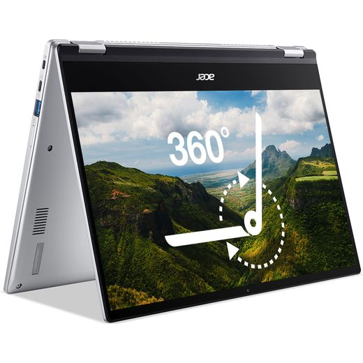 """Acer Spin 514 CP514-1H 14"""" Chromebook Laptop - Silver"""