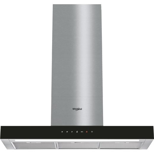 Whirlpool W Collection WHBS92FLTK 90 cm Chimney Cooker Hood - Black - A Rated