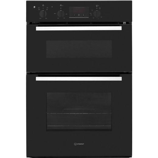 Indesit Aria IDD6340BL Built In Electric Double Oven - Black - A/A Rated