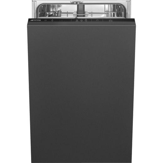 Smeg DI4522 Fully Integrated Slimline Dishwasher - Black Control Panel - E Rated