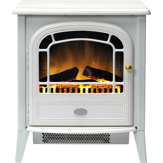 Dimplex Courchevel CVL20E Log Effect Electric Stove With Remote Control - White