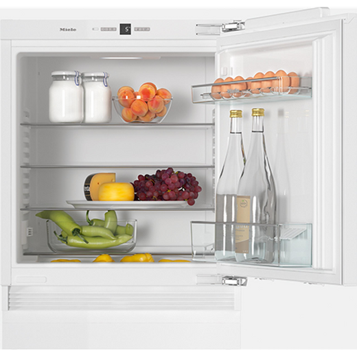 Miele K31222Ui Integrated Under Counter Fridge - Fixed Door Fixing Kit - White - F Rated