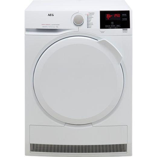 AEG SensiDry Technology T7DBG840N 8Kg Heat Pump Tumble Dryer - White - A++ Rated