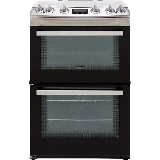Zanussi ZCK66350XA Dual Fuel Cooker - Stainless Steel - Needs 5.2KW Electrical Connection