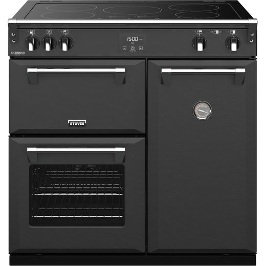 Stoves Colour Boutique Collection Richmond Deluxe S900Ei CB 90cm Electric Range Cooker with Induction Hob - Anthracite - A Rated