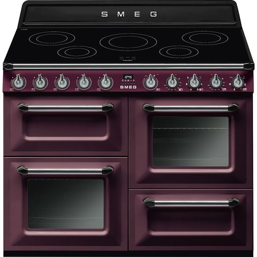 Smeg Victoria TR4110IRW 110cm Electric Range Cooker with Induction Hob - Wine Red - A/A Rated