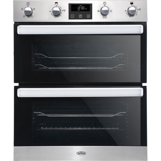Belling BI702FPCT Built Under Electric Double Oven - Stainless Steel