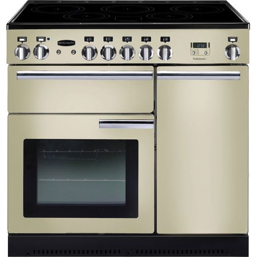 Rangemaster Professional Plus PROP90EICR/C 90cm Electric Range Cooker with Induction Hob - Cream - A/A Rated
